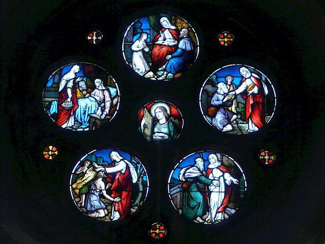 Photo: West Window stained glass