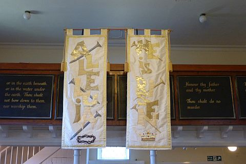 Photo: Our beautifully embroidered Easter banners